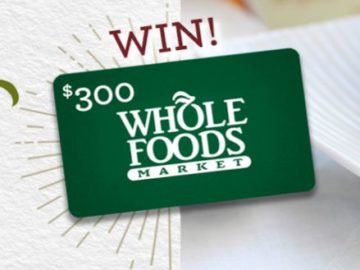 a $300 Whole Foods Gift Card