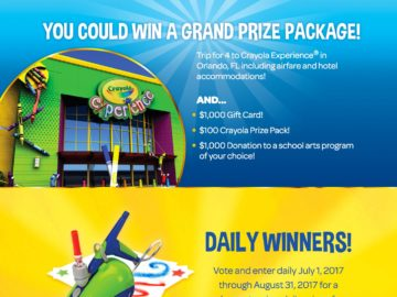 crayola name the new color sweepstakes