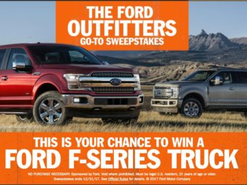 Ford Outfitters 'Go To' Sweepstakes