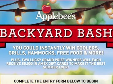 Applebee S Rmh Backyard Bash Instant Win Game And Sweepstakes