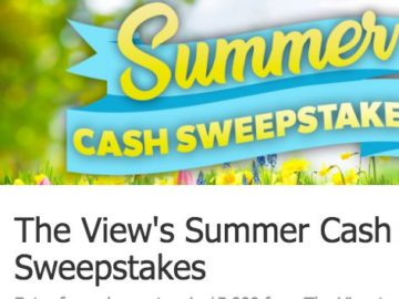 The View's Summer Cash Sweepstakes