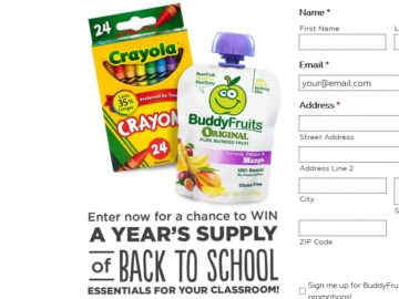 Buddy Fruits 2017 Back to School Sweepstakes