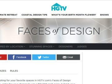 HGTV.comu0027s Faces Of Design Awards Giveaway Sweepstakes