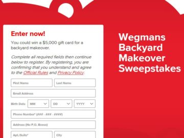 Coca Cola And Wegmans Backyard Makeover Sweepstakes Limited States