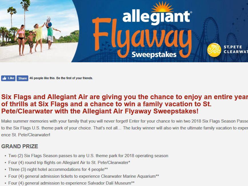 Allegiant Air Flyaway Sweepstakes