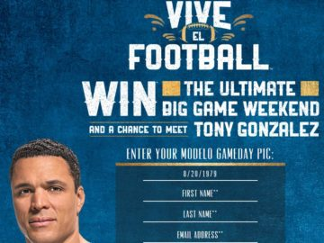 Modelo Football 2017 Sweepstakes