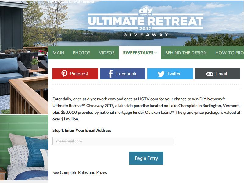 Diy network ultimate retreat giveaway 2017 sweepstakes for Diy ultimate retreat 2017