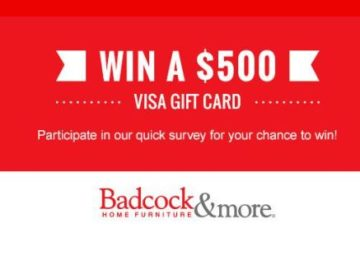 Badcock Home Furniture U0026more U201cWin A $500 Visa Gift Cardu201d Sweepstakes