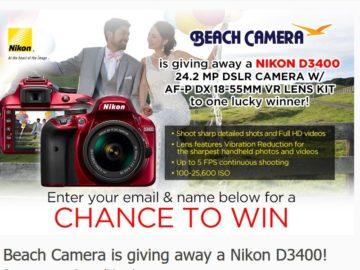 Beach Camera NIKON D3400 Sweepstakes
