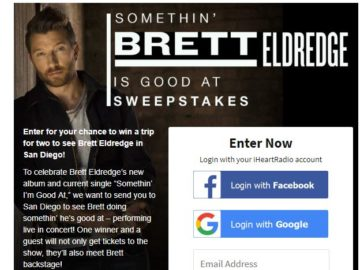 CMT Somethin' Brett Eldredge Is Good At Sweepstakes