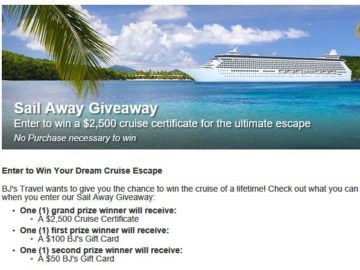 "BJ's Travel ""Sail Away"" Giveaway Sweepstakes"