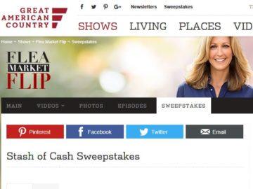 Flea Market Flip Stash of Cash Sweepstakes