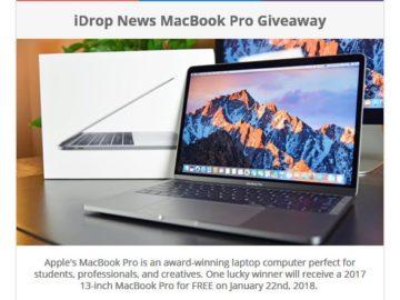 iDrop News' MacBook Pro Giveaway Sweepstakes