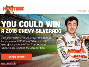 Hooters Win a Truck Sweepstakes