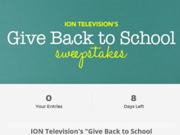 ION Television's Give Back to School Sweepstakes
