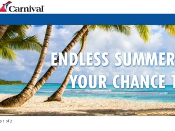 Carnival Endless Summer Sweepstakes