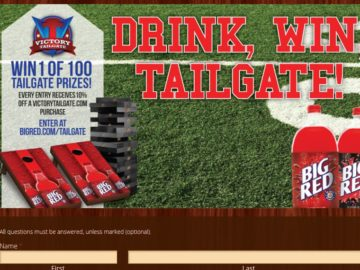 "Big Red's ""Drink. Win. Tailgate."" Giveaway Sweepstakes"