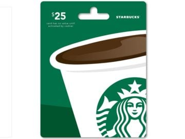 Win a $25 Starbucks Gift Card