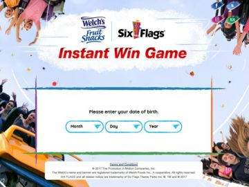 Welch's Fruit Snacks Six Flags Sweepstakes and Instant Win Game