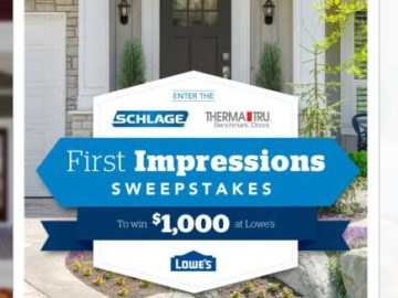 Schlage First Impressions Sweepstakes
