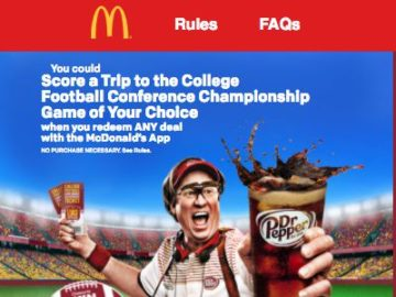 McDonald's Crave Your Game Appstakes (Email entry or use App)