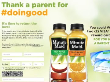 Minute Maid Juices To Go Instant Win Game
