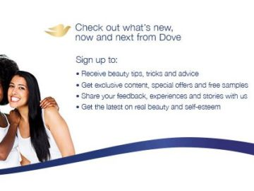 Dove Free Samples and Coupons
