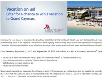September Southwest Vacations Sweepstakes