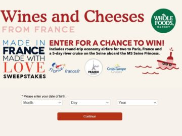 Whole Foods Made in France, Made with Love Sweepstakes