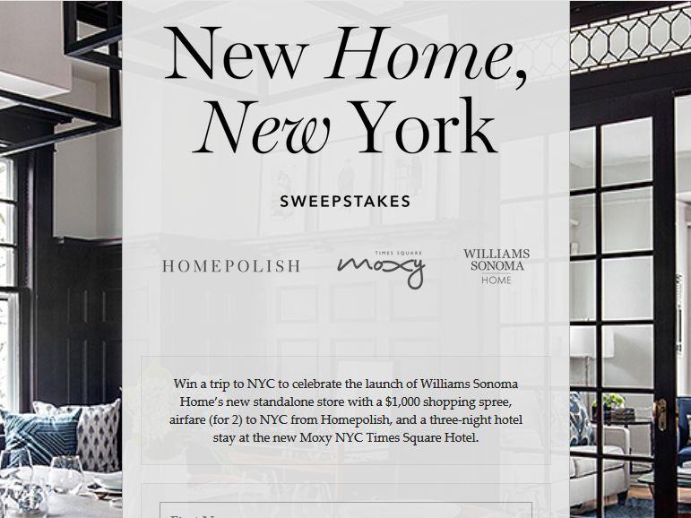 Homepolish new home new york giveaway sweepstakes for New home giveaway