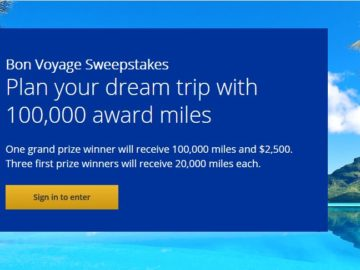United Airlines MileagePlus Shopping 2017 Bon Voyage Sweepstakes