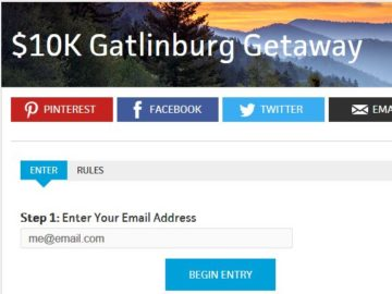 Travel Channel's Gatlinburg Getaway Sweepstakes