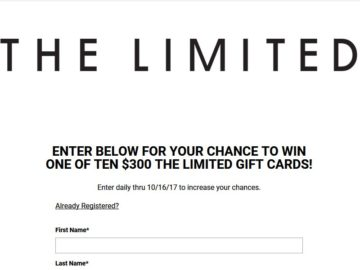 THELIMITED.COM Sweepstakes