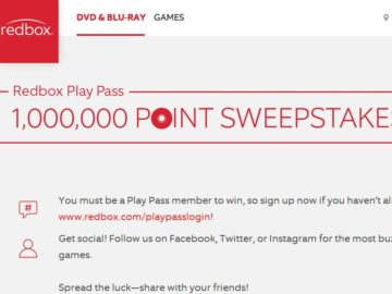 RedBox 1,000,000 Point Sweepstakes