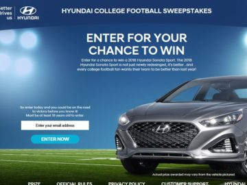Sweepstakes winners lists 2018 hyundai