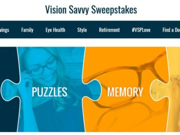 VSP Vision Savvy Sweepstakes and Instant Win game