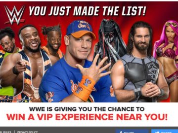 WWE You Just Made the List Sweepstakes