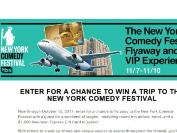 New York Comedy Festival Flyaway and VIP Experience Sweepstakes