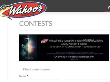 Wahoo's FLATLINERS Sweepstakes