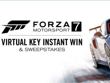 Forza Motorsport 7 Virtual Key Sweepstakes and Instant Win Game
