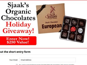 Whole Mom Sjaak's Organic Chocolates Holiday Giveaway Sweepstakes