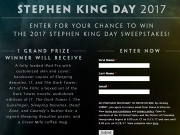 Stephen King Day 2017 Sweepstakes