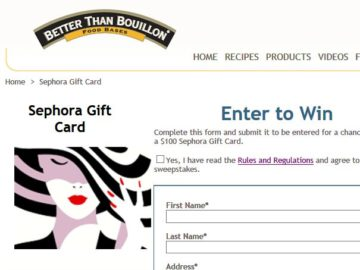 Better than Bouillon Sephora Gift Card Giveaway Sweepstakes