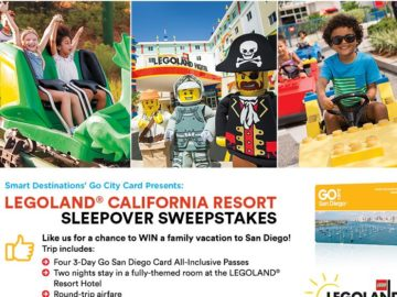Smart Destinations and LEGOLAND California Resort Sleepover Sweepstakes – Facebook