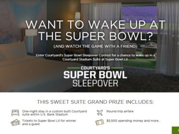 Courtyard's Super Bowl Sleepover Contest