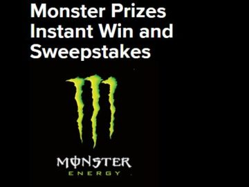 Monster Prizes Instant Win and Sweepstakes