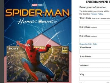 Best Buy Spider-Man: Homecoming Sweepstakes