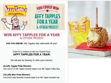 Affy Tapple Apples for a Year Sweepstakes