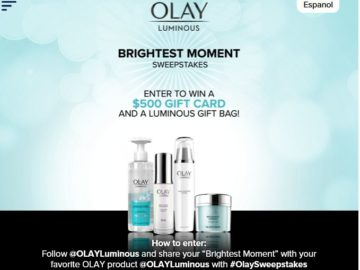 OLAY's Luminous Moments Sweepstakes – Instagram