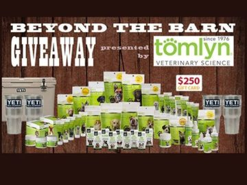 Tomlyn Veterinary Service Beyond the Barn Giveaway Sweepstakes